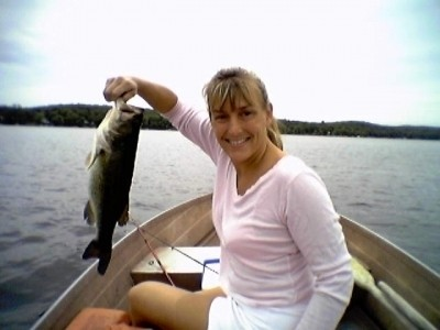 Photo of Bass Caught by Christy with Mister Twister  in New York