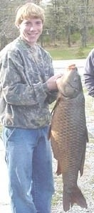 Photo of Carp Caught by Steve with Mister Twister  in New York