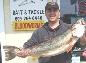 Photo of Trout Caught by Captain Jeffrey with Mister Twister  in New Jersey