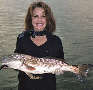 Photo of Redfish Caught by Julie with Mister Twister Exude™ D.A.R.T. in Florida