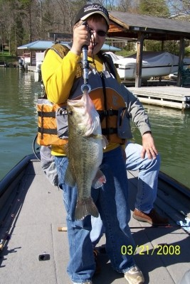 Photo of Bass Caught by Kodi with Mister Twister  in North Carolina