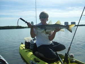 Photo of Snook Caught by Austin with Mister Twister Exude™ 4¼