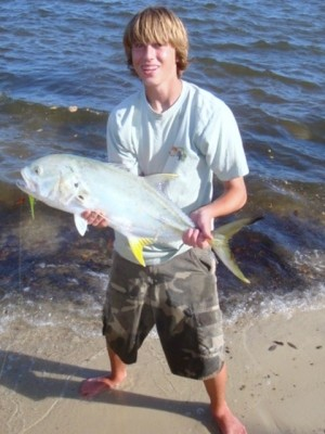 Photo of Jack Crevalle Caught by Jerad with Mister Twister Exude™ 5