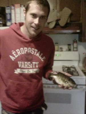 Photo of Bluegill Caught by Derrick with Mister Twister  in Wisconsin