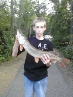Photo of Pike Caught by Mason with Mister Twister 2