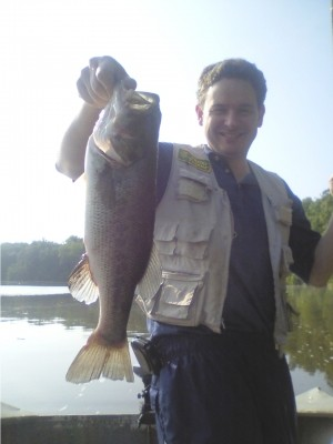 Photo of Bass Caught by Nicholas with Mister Twister Ribbon Tail in Virginia