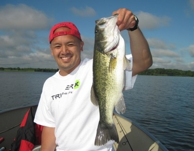 Photo of Bass Caught by Nam with Mister Twister Exude™ 4