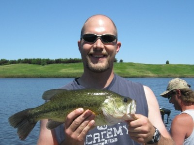 Photo of Bass Caught by Chris Schultz with Mister Twister Sassy Shad® - Freshwater & Saltwater in North Dakota