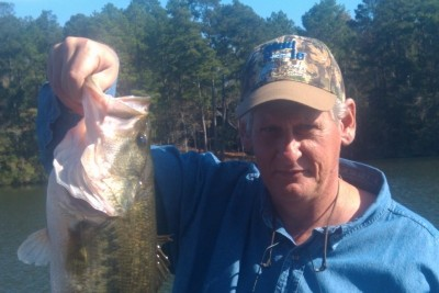 Photo of Bass Caught by Ellis with Mister Twister  in Mississippi