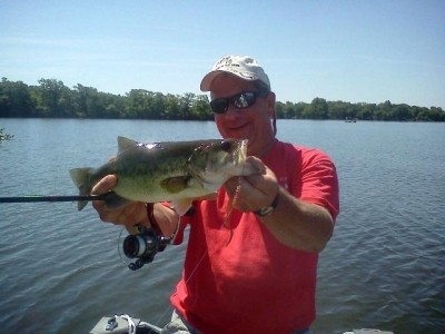 Photo of Bass Caught by Ed with Mister Twister Ribbon Tail in Pennsylvania