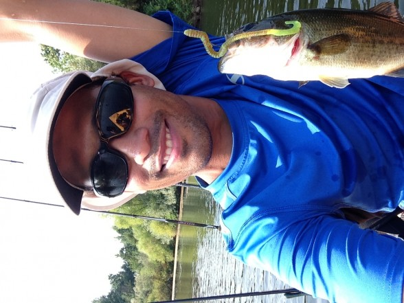 Photo of Bass Caught by Lazaro with Mister Twister 6