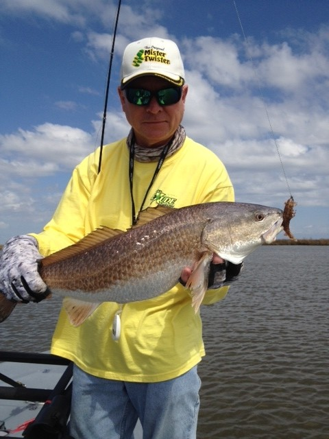 Photo of Redfish Caught by Mac with Mister Twister Exude™ 2½