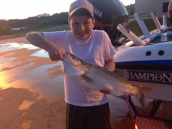 Photo of Bass Caught by Noah with Mister Twister Sassy Shad® in Texas