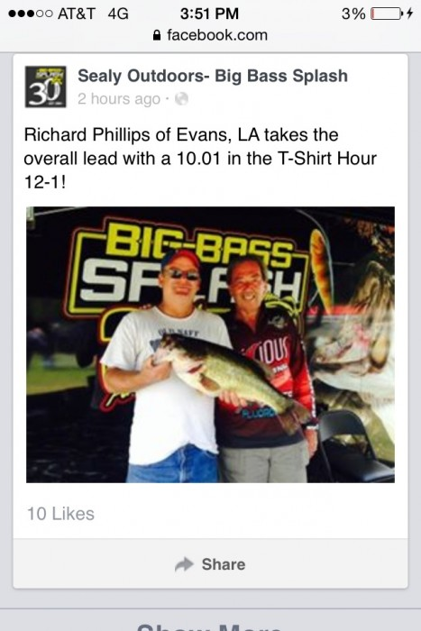 Photo of Bass Caught by Richard with Mister Twister 6