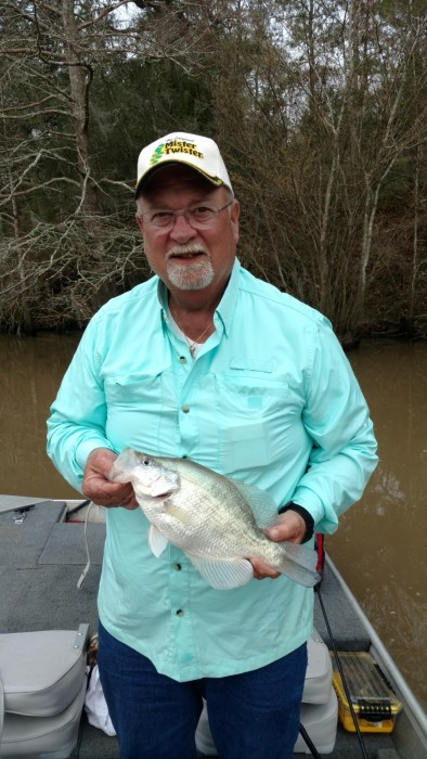 Photo of Crappie  Caught by Bobby with Mister Twister Crappie Jigs in United States - Mister Twister