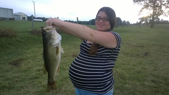 Photo of Bass Caught by Brandy with Mister Twister  in North Carolina