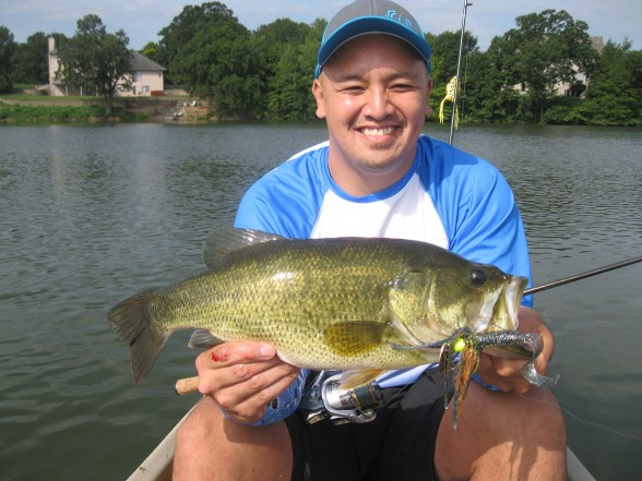 Photo of Bass Caught by Nam with Mister Twister 5