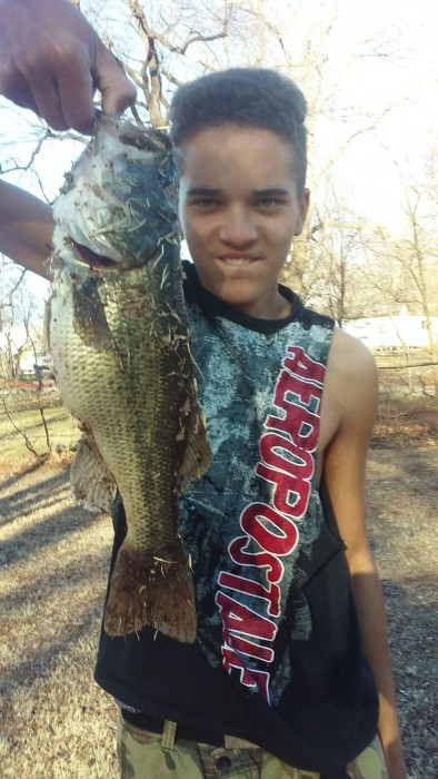 Photo of Bass Caught by Chris with Mister Twister 4