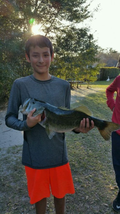 Photo of Bass Caught by Ethan And Gary with Mister Twister 4