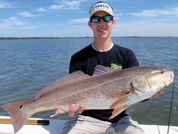 Redfish caught on an Exude® DART