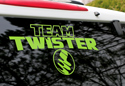 Team Twister Die-cut Vinyl Window/Boat Sticker Thumbnail