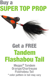 Free Tandem Flashabou Tail with purchase of Super Top Prop